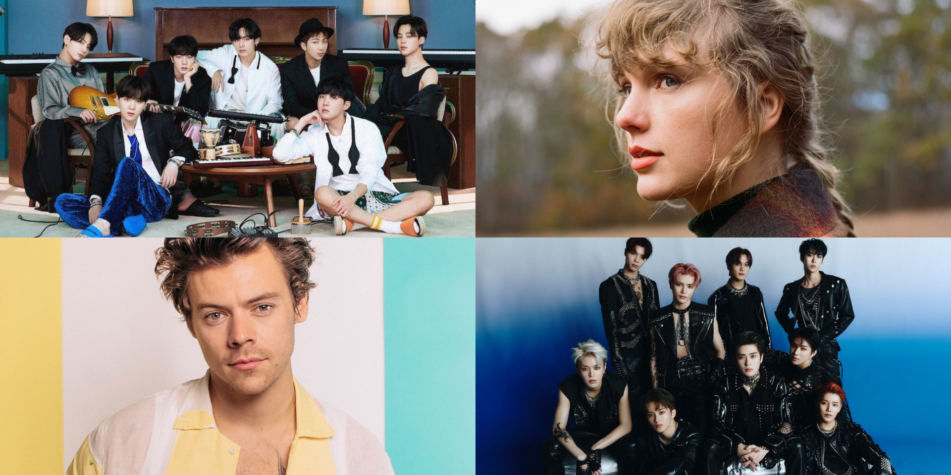 BTS, Taylor Swift, NCT 127, Harry Styles, and more have the best selling albums of 2020