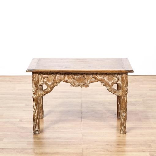 Wood Carved Tree Branch Table Loveseat Vintage Furniture San Diego Los Angeles