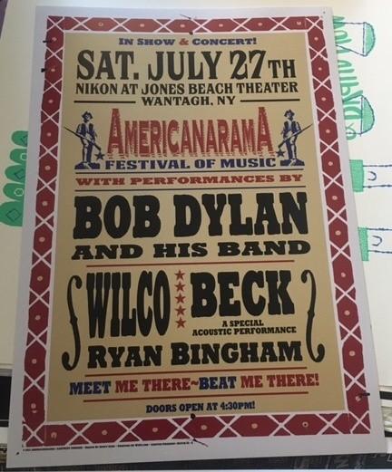 Americanarama Festival (Dylan, Wilco, Beck) Jones Beach Poster