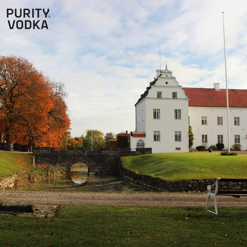 Halloween image of Ellinge Estate, the home of Purity Vodka