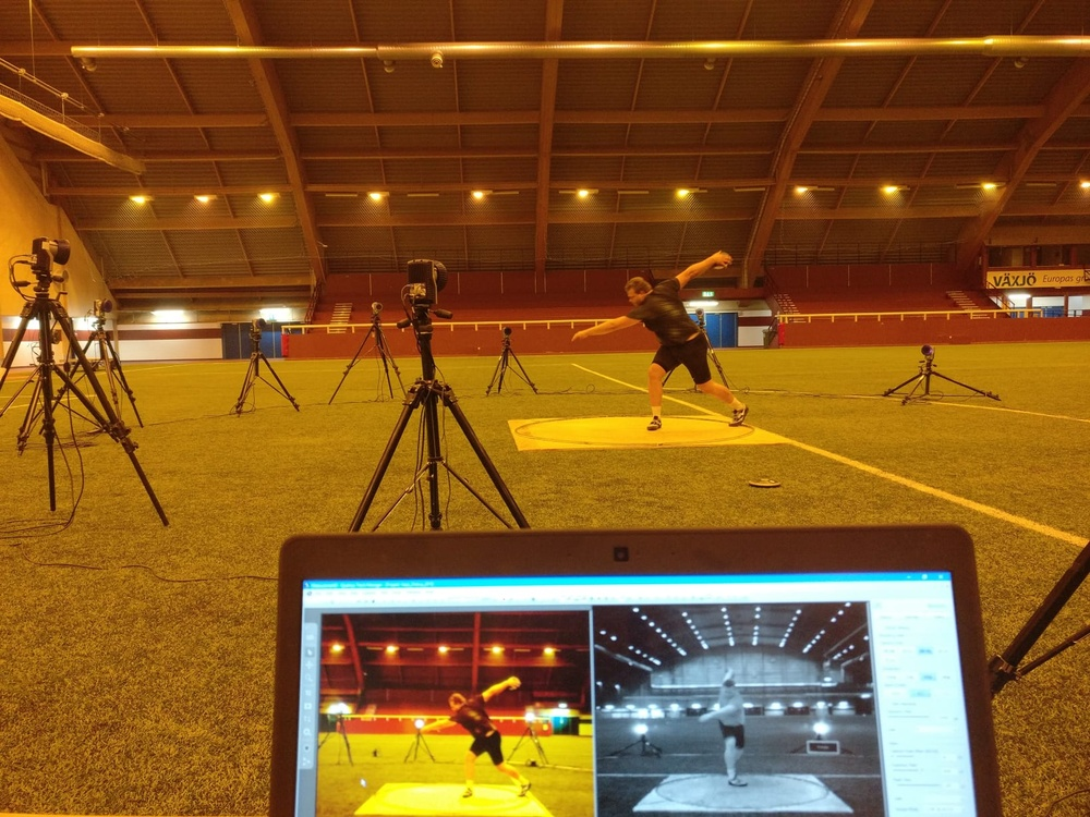 Daniel Ståhl, Diskus, Silver medalist European Athletics Championships 2018 Performed by Analyz3d by Dr. Tobias Hein; powered by Qualisys AB