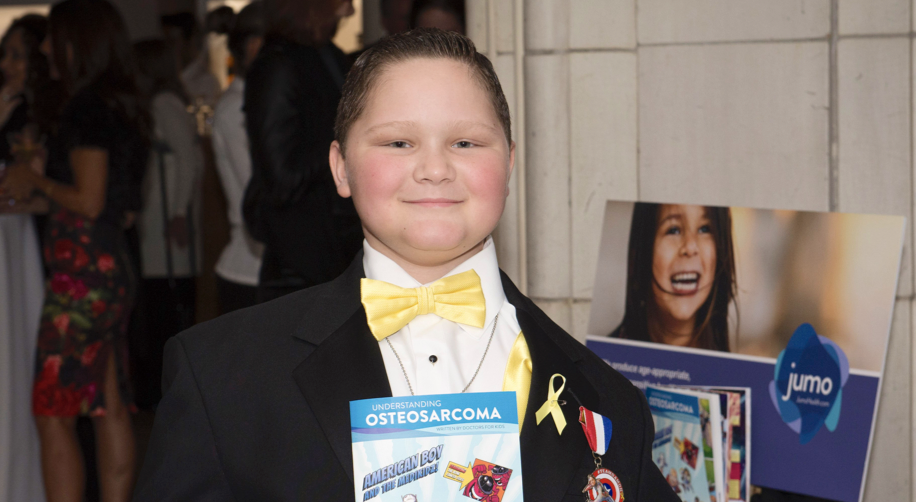 Damon Billeck in yellow bowtie and tuxedo