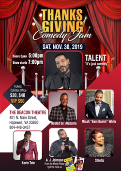 BT - Thanksgiving Comedy Jam - November 30, 2019, doors 5pm