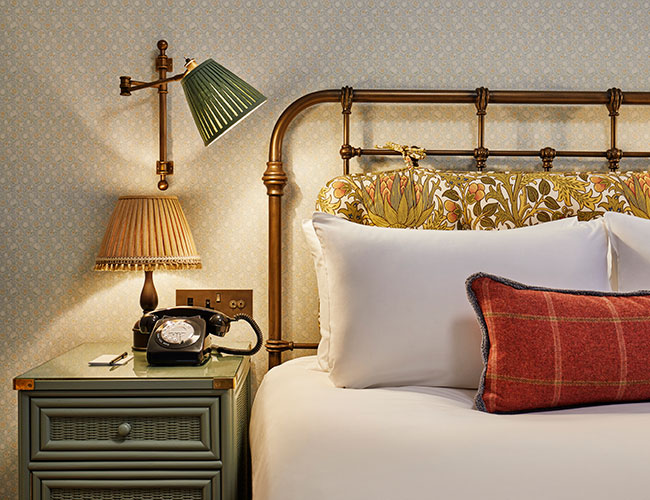 Cosy bedroom at the Ned