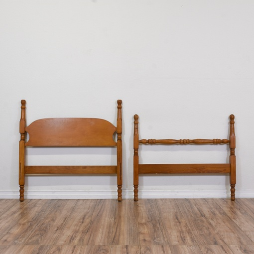 Classic twin sized wooden headboard loveseat vintage for Classic furniture los angeles