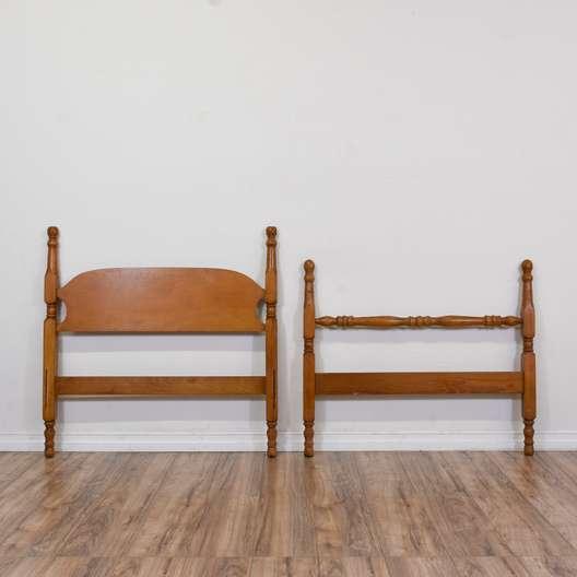 Classic Twin Sized Wooden Headboard