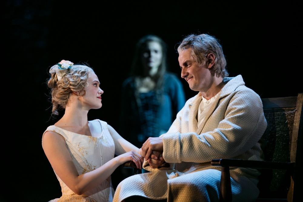 Cosette (Kristin Lidström) och Jean Valjean (Christer Nerfont)