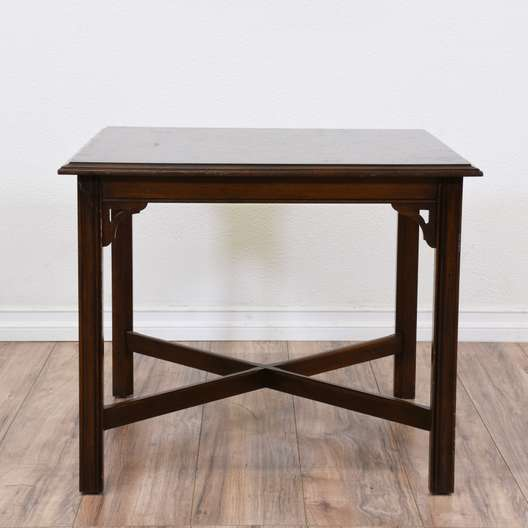 """Ethan Allen"" Dark Cherry Square End Table"