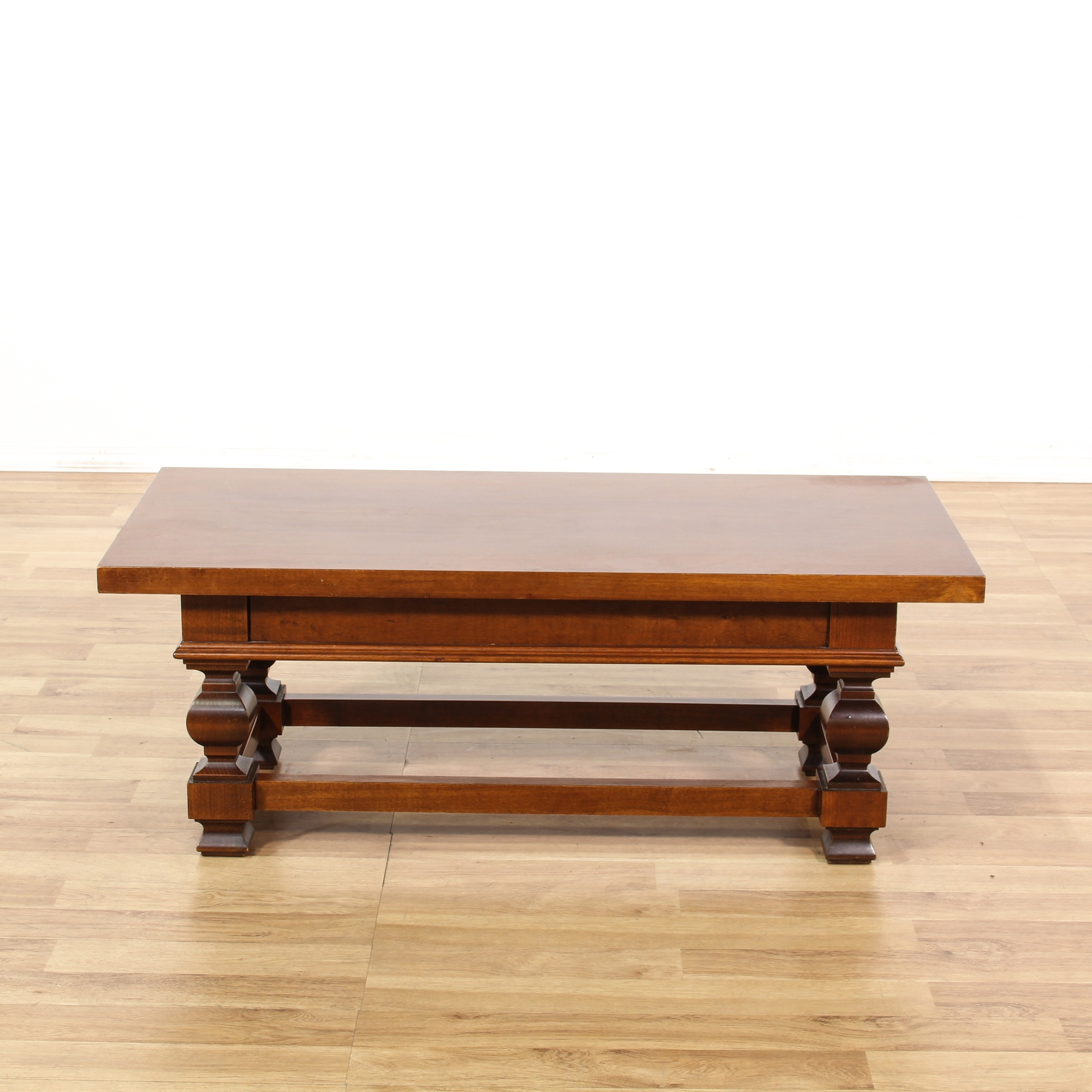 Mahogany 2 Drawer Coffee Table Loveseat Vintage Furniture San Diego Los Angeles