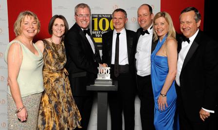 Winning Sunday Times top 100 award