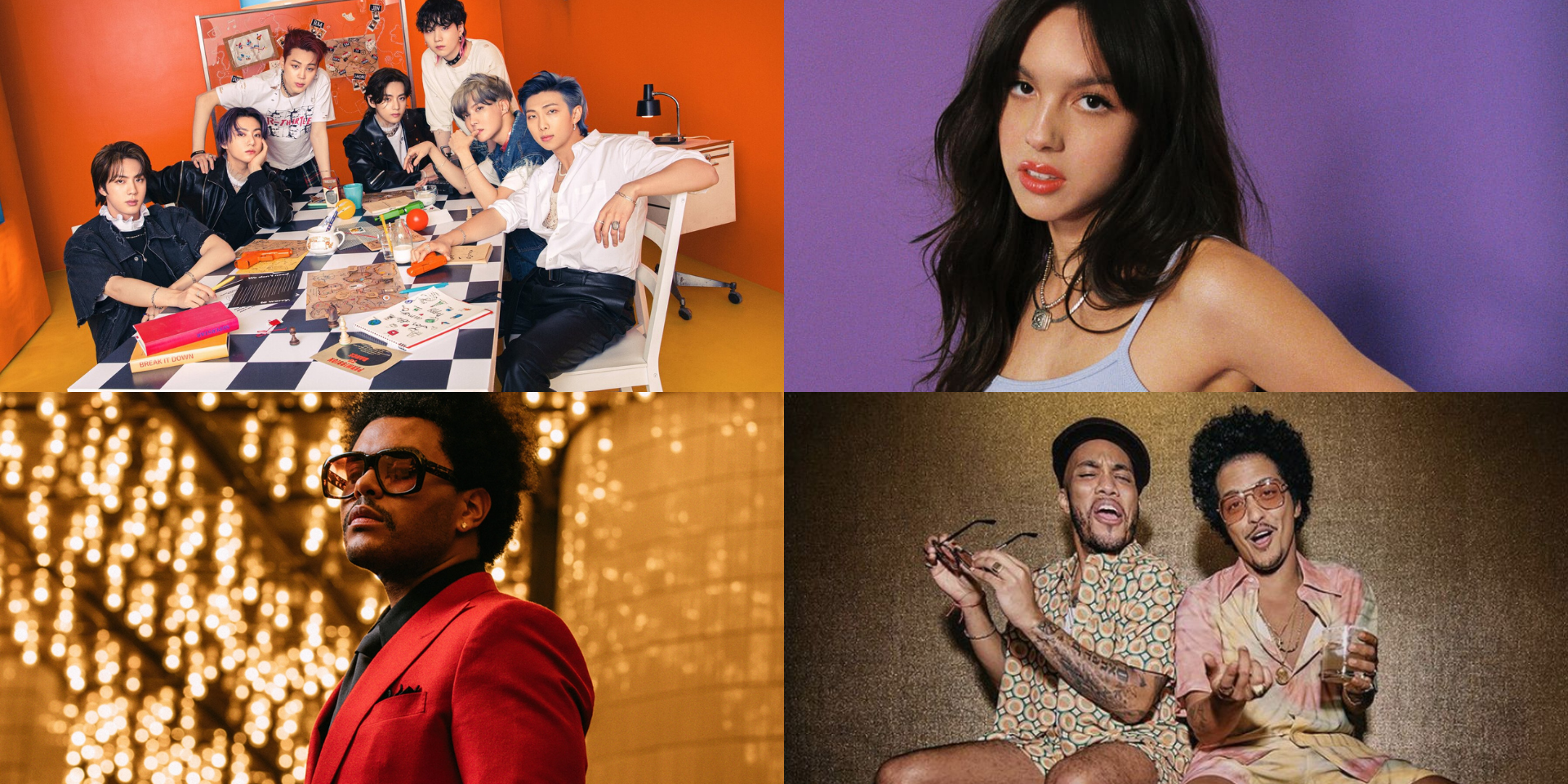 BTS, Olivia Rodrigo, The Weeknd, Silk Sonic, and more have 2021's Top Selling Songs so far