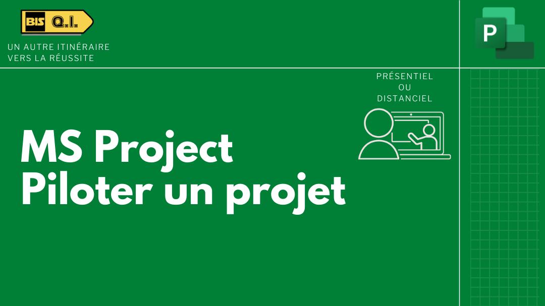 Représentation de la formation : MS Project - Piloter un Projet