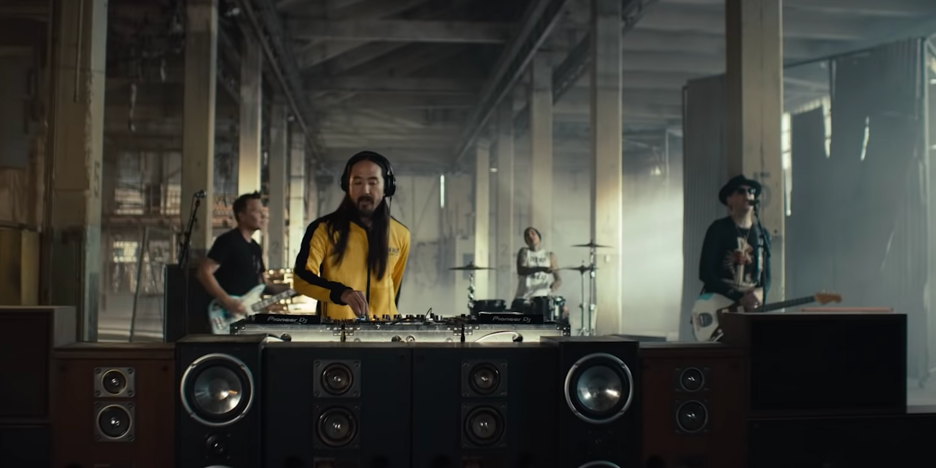 Destruction is central in Steve Aoki and Blink-182's new music video for 'Why Are We So Broken' – watch