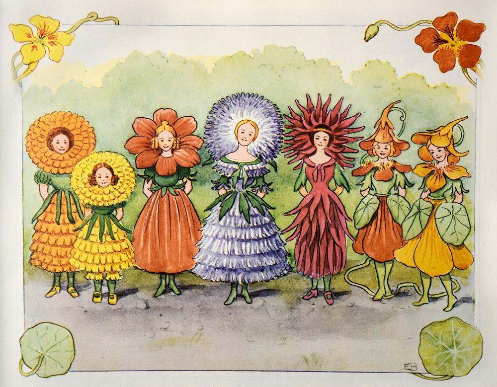Illustration ur Elsa Beskows bok Lasse-liten i trädgården. © Elsa Beskow
