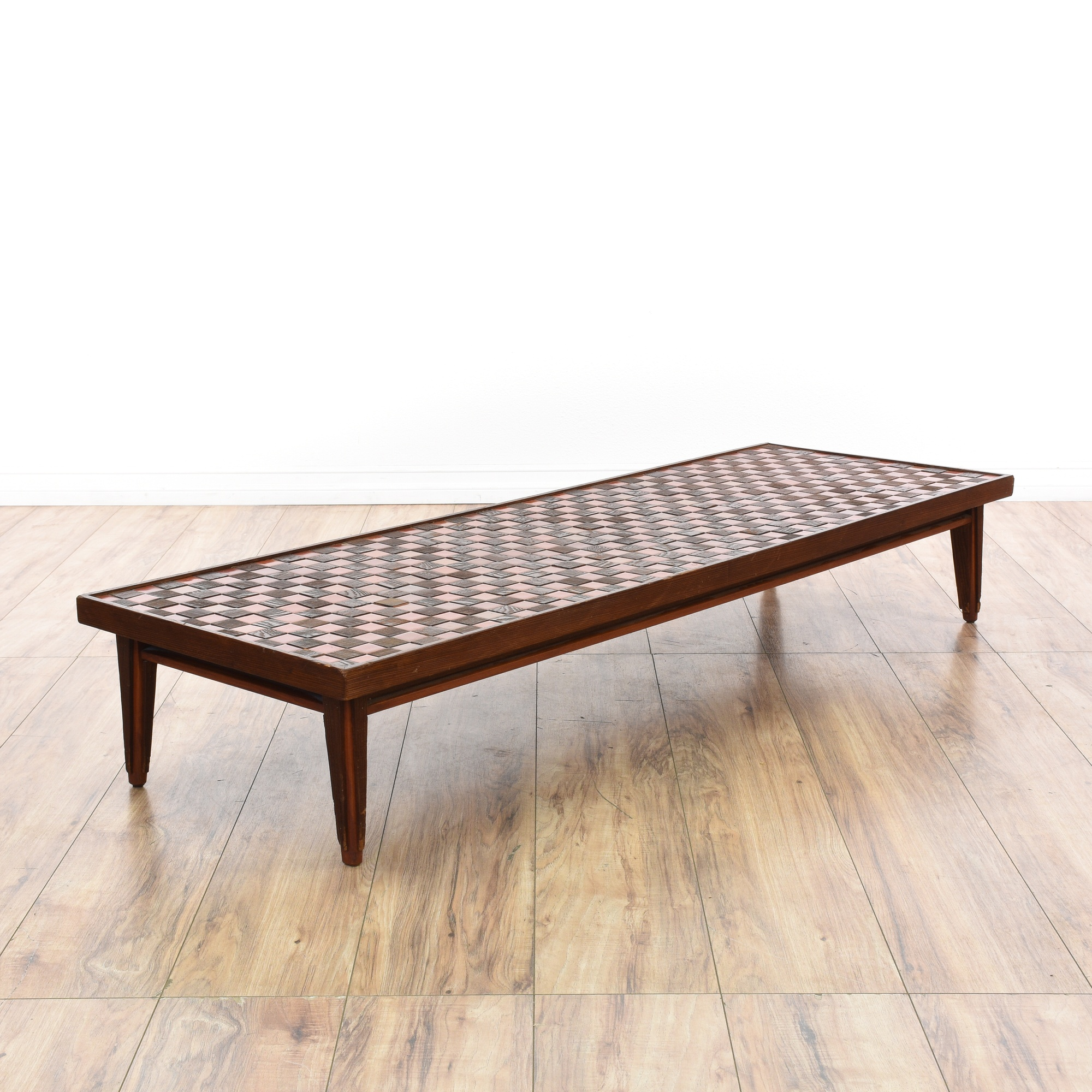 Tile Coffee Table Set: Tile & Wood Mosaic Top Coffee Table