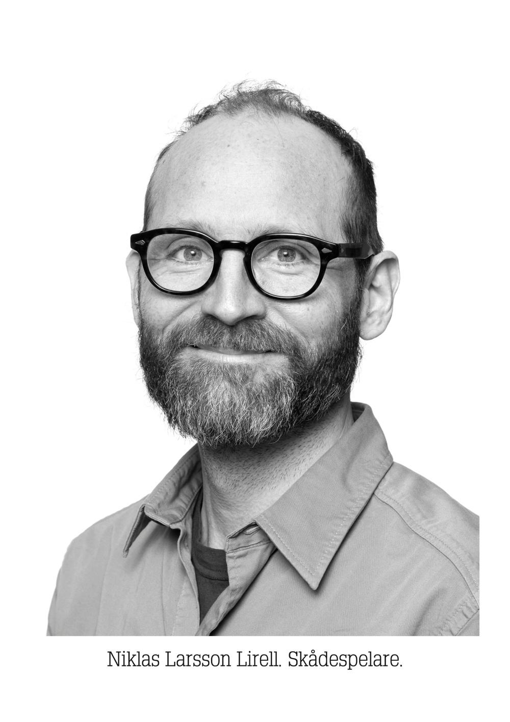 Niklas Lirell Larsson, skådespelare på UngHästen/Västerbottensteatern. Foto: Patrick Degerman.