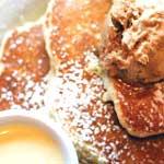 Bread pudding pancakes