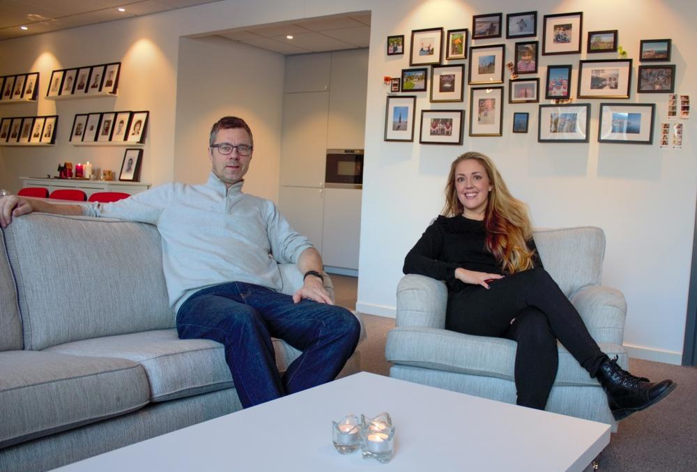 Lars Markström och Christel Jonsson på Kvadrats kontor