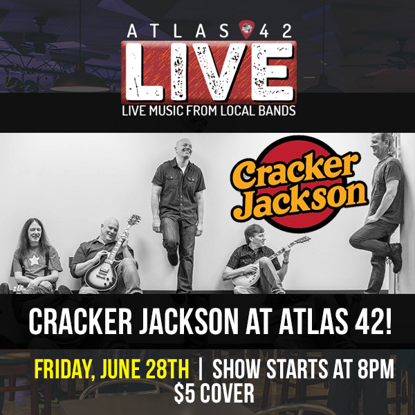 Atlas 42 - Cracker Jackson - June 28, 2019, 8pm