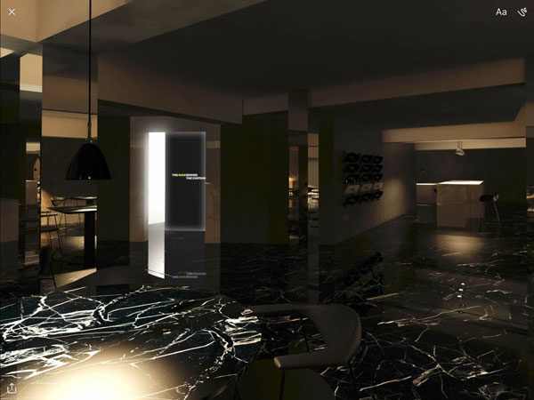 Waiting staff will emerge from an illuminated doorway that separates the kitchen and dining room
