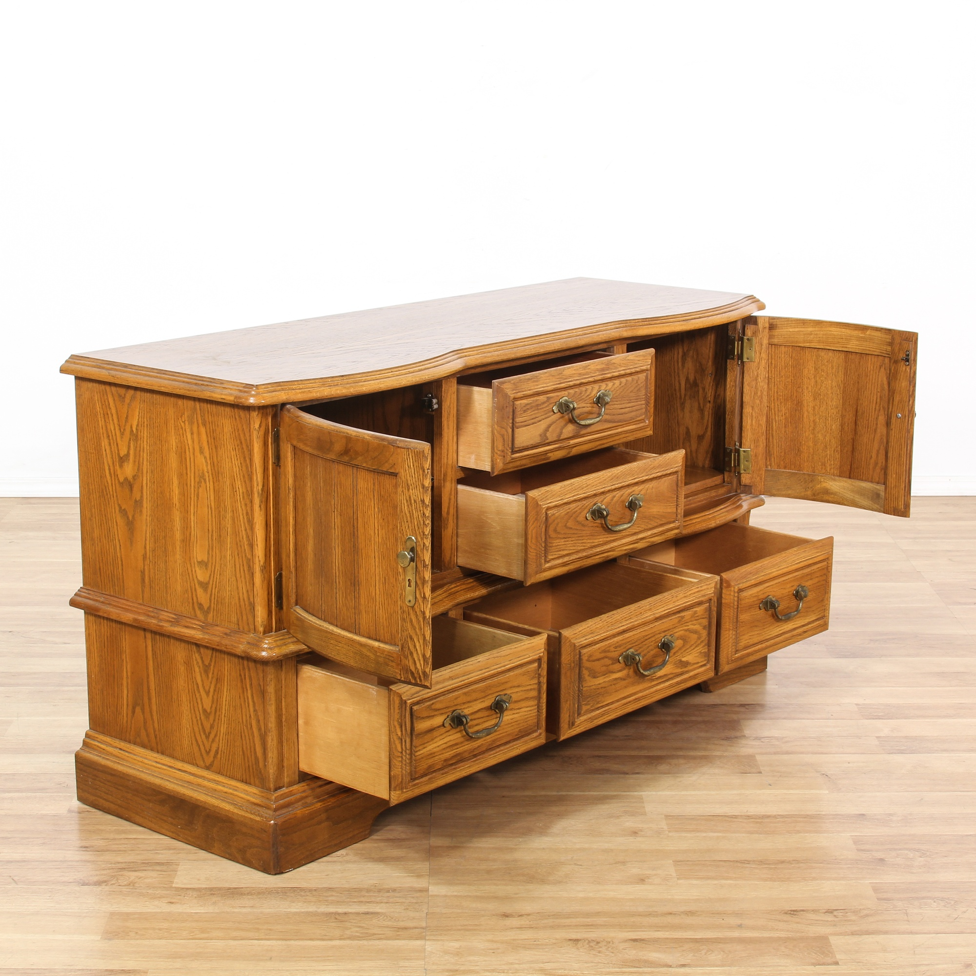 """""""Cal Shops"""" Maple Stained Chest Of Drawers"""