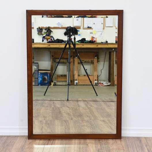 Simple Cherry Beveled Edge Mirror