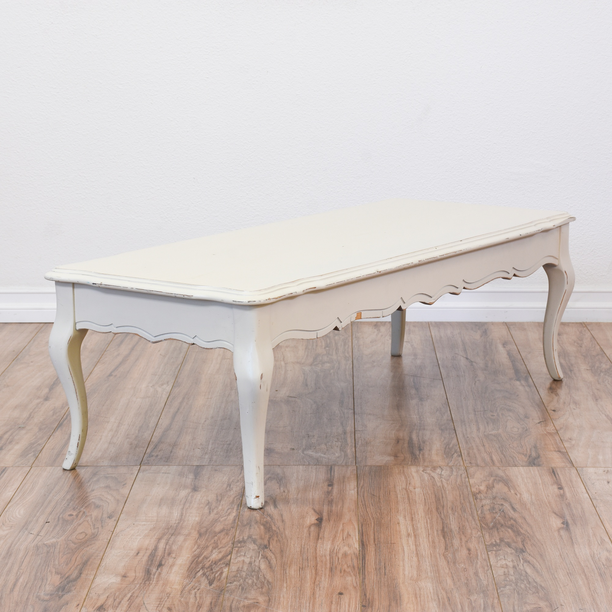 White Shabby Chic French Provincial Coffee Table Loveseat Vintage Furniture San Diego