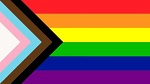 Pride trans flag including brown and black