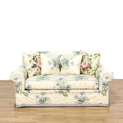 Cottage Chic Floral Upholstered Loveseat Loveseat