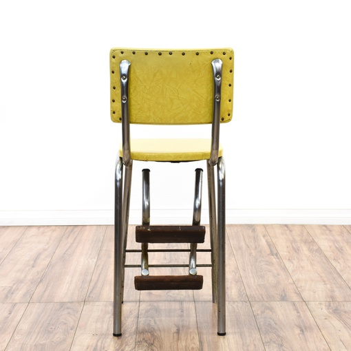 Retro Industrial Yellow Step Stool Loveseat Vintage