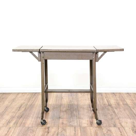 """Steel Parts"" Folding Typewriter Table Desk"