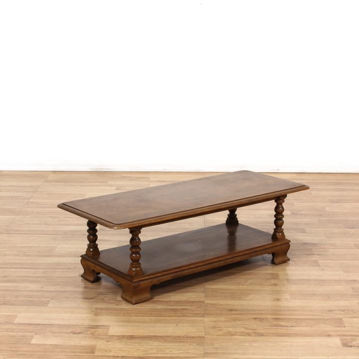 "Ethan Allen Trevor Coffee Table: ""Ethan Allen"" 2 Tier Coffee Table"