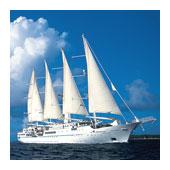 Windstar Cruises' motor-sail yacht