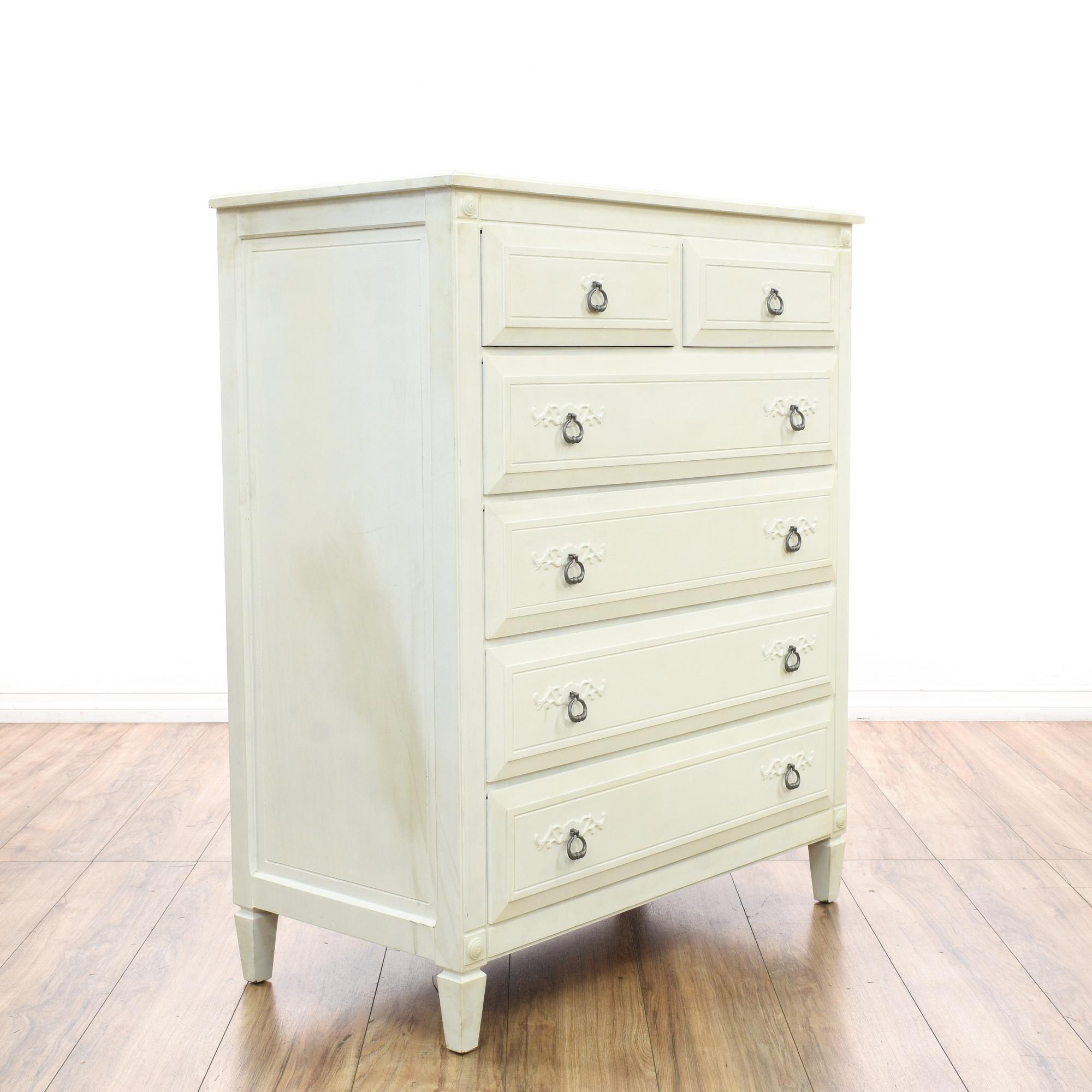 Rway Tall White Cottage Chic Dresser Loveseat Vintage