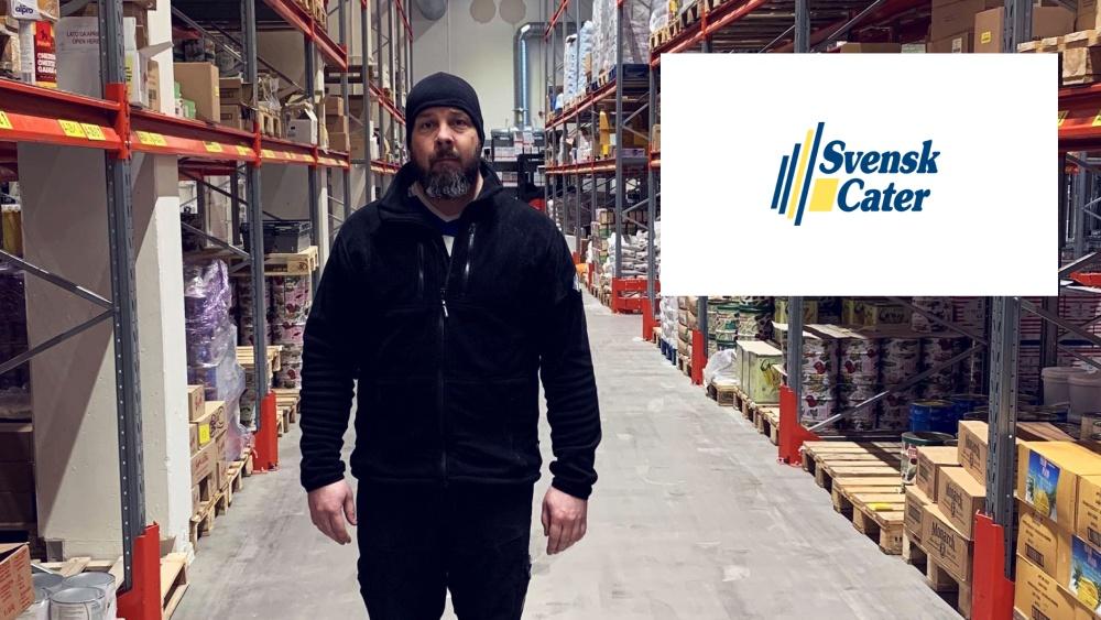 Svensk Cater Upplands Väsby, lagerchef Anders Larsson