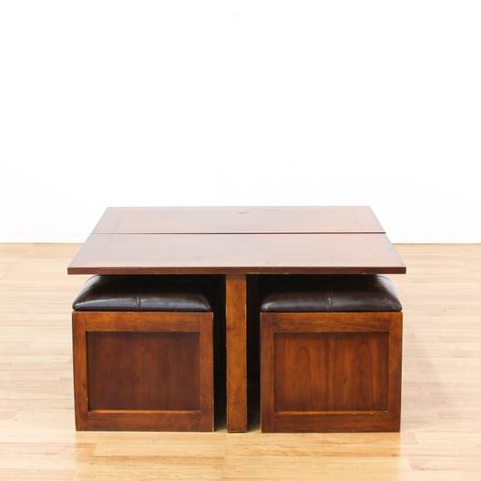 Lift Top Coffee Table W 2 Stools Loveseat Vintage Furniture Los Angeles