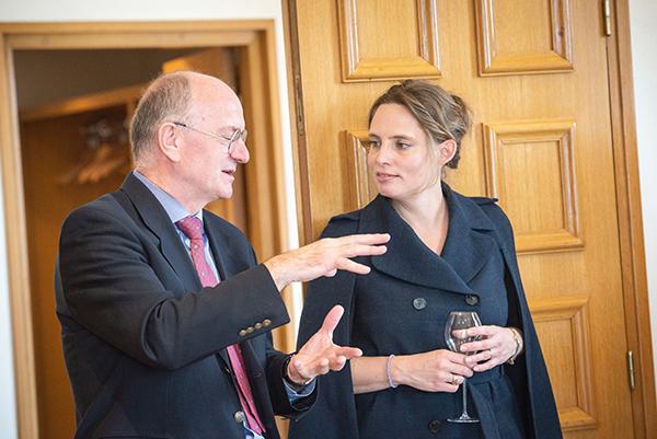 Kevin McKee, UK director for Family Taittinger, with Vitalie Taittinger
