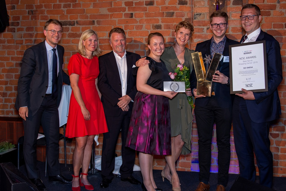 Iso Omena (Citycon), vinnare av Best Shopping Center i NCSC Nordic Awards 2019.