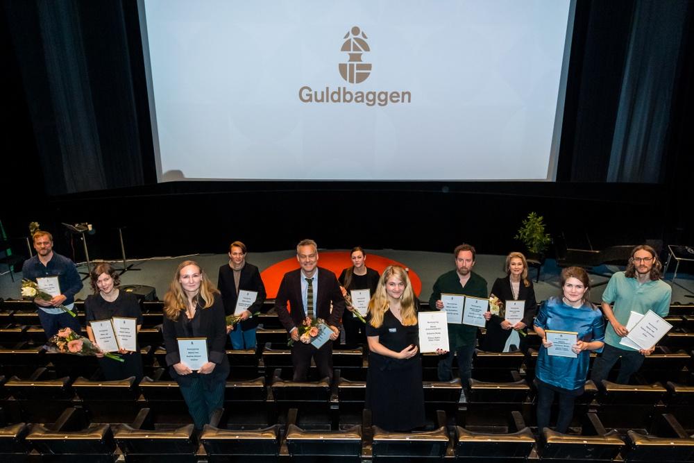 Glada nominerade på plats i Filmhuset. Foto: Pelle T Nilsson