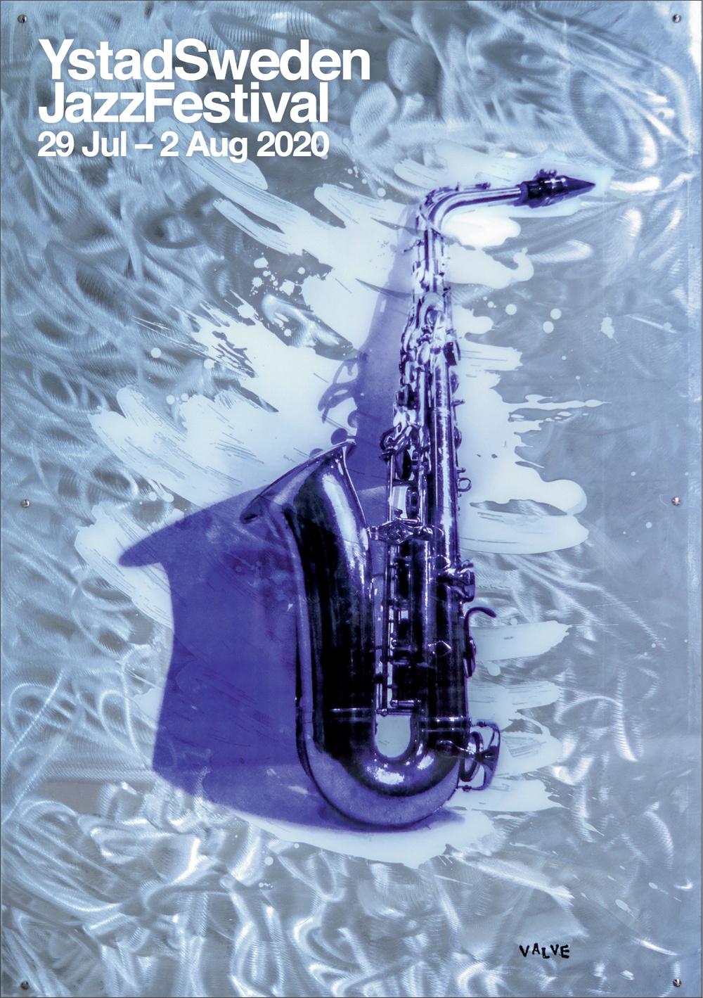 Officiell affisch för Ystad Sweden Jazz Festival 2020