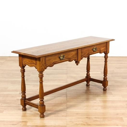 Tell City Chair Co Oak Console Sofa Table