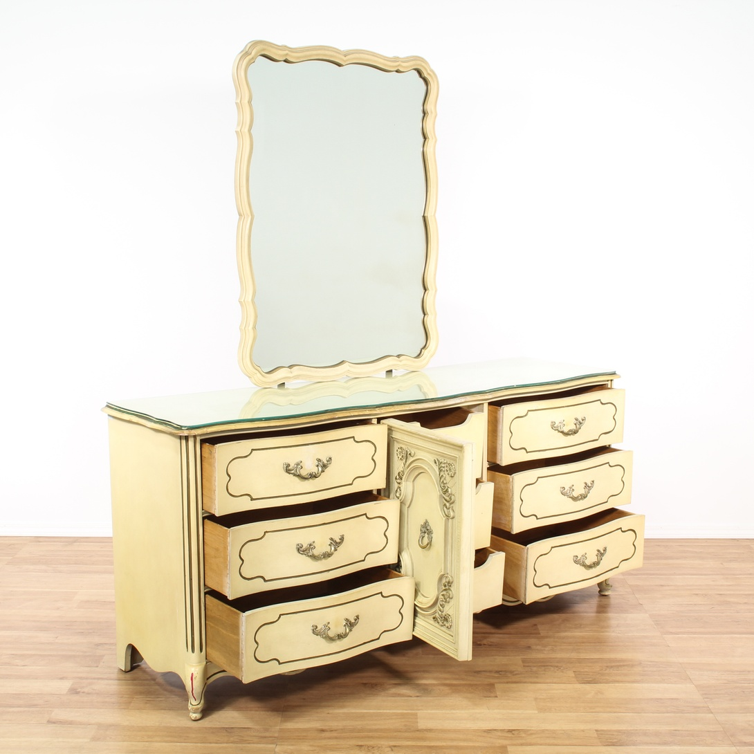 """Bassett"" French Provincial Dresser And Mirror"