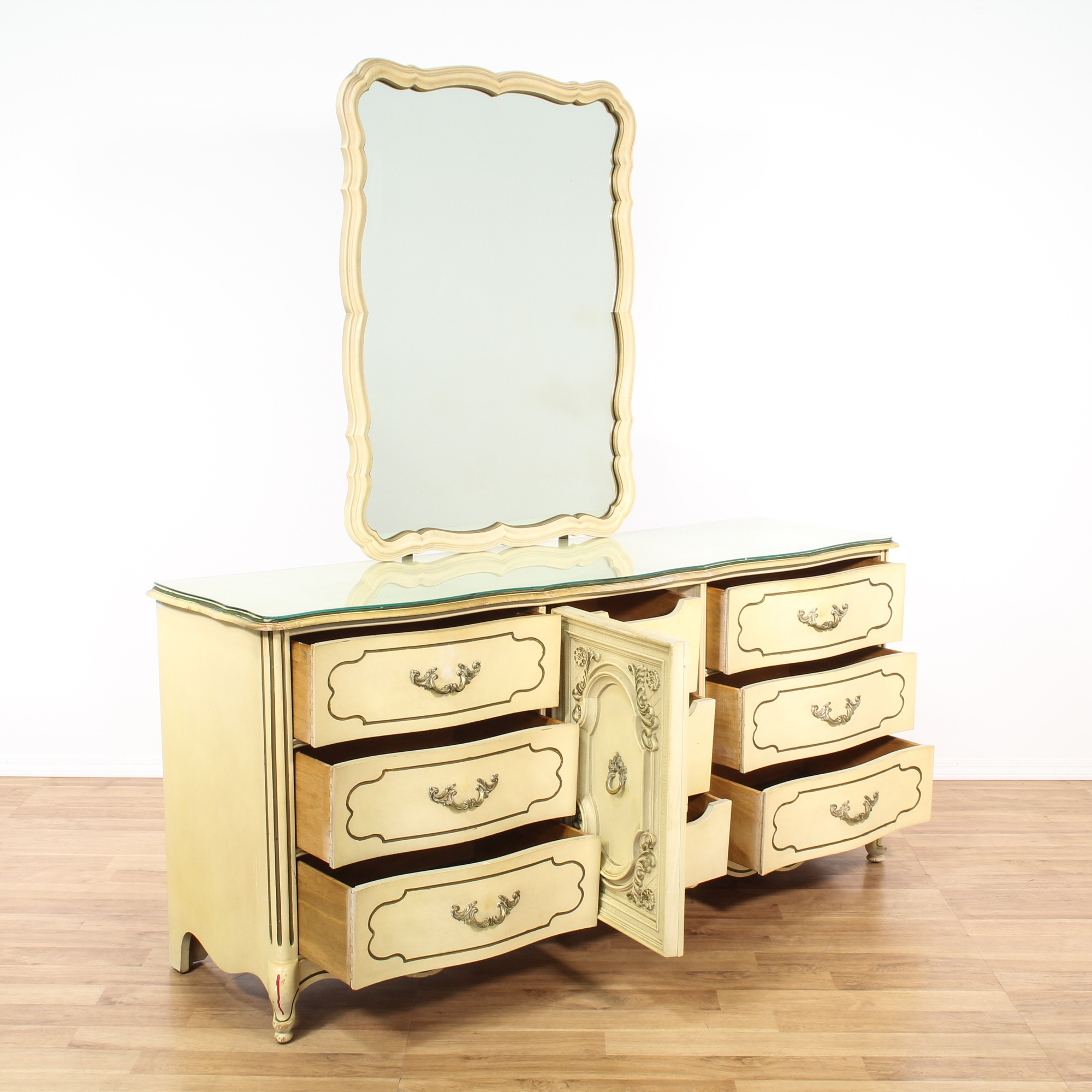 Quot Bassett Quot French Provincial Dresser And Mirror Loveseat