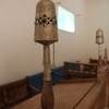 Haim Ben Diwan Synagogue, Interior, Rimonim on Bima (Ouirgane, Morocco, 2010)