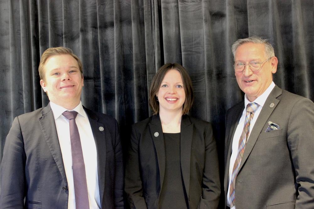 På bild fr v: Robin, Rebecka och Jan Erik.