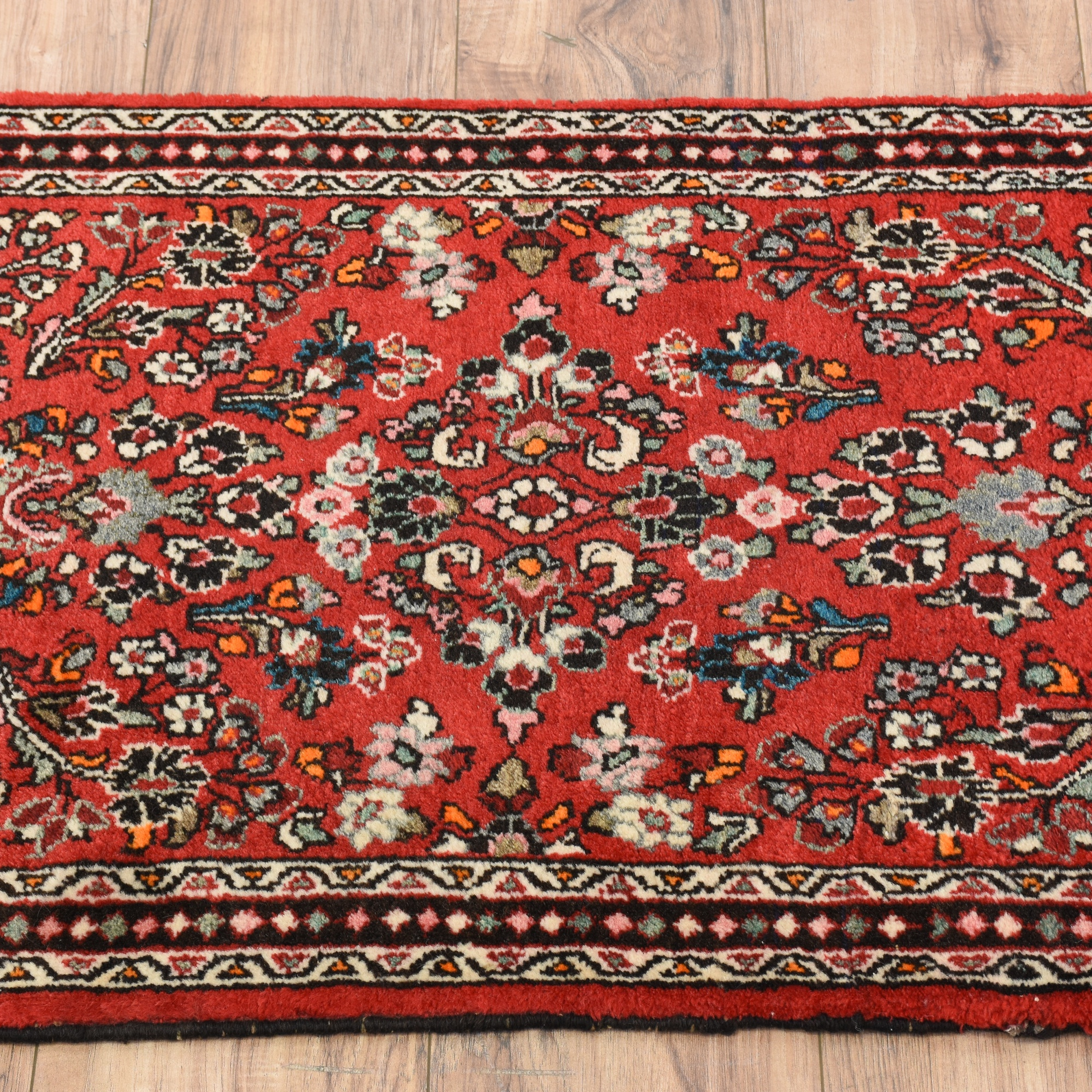 Hand Woven Red Persian Wool Rug
