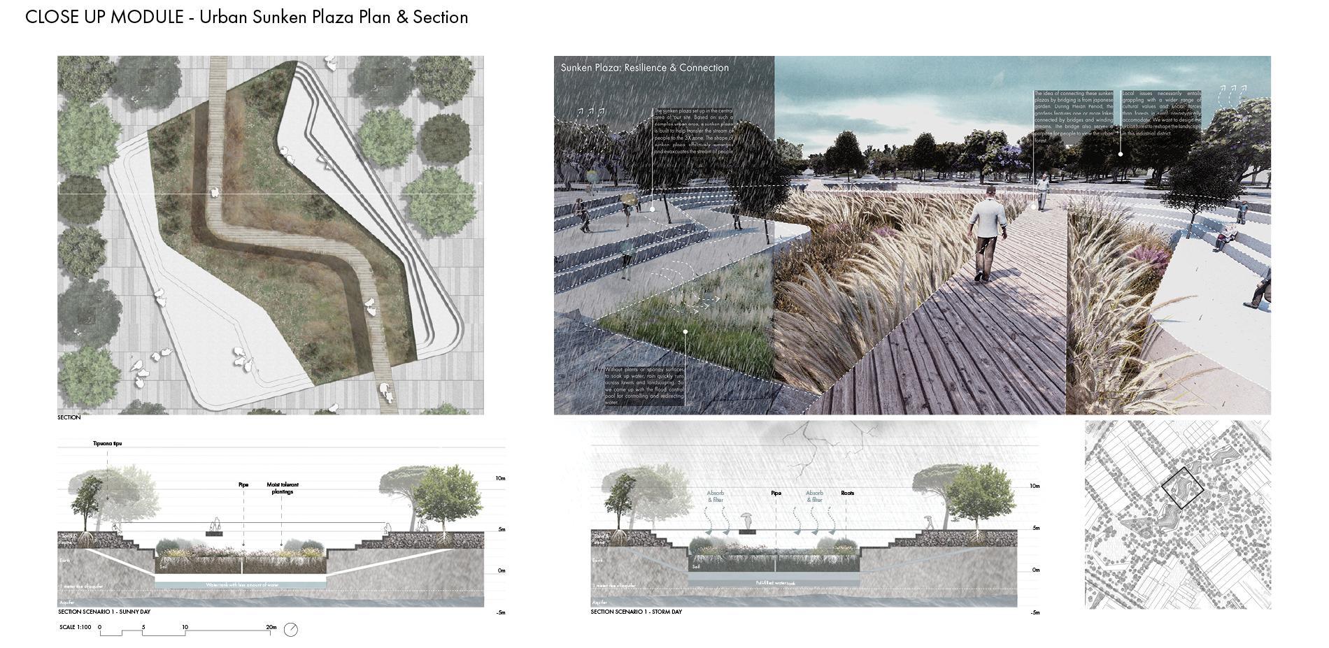 Close Up Module - Urban Sunken Plaza