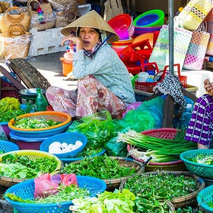 Locals at the market, Vietnam