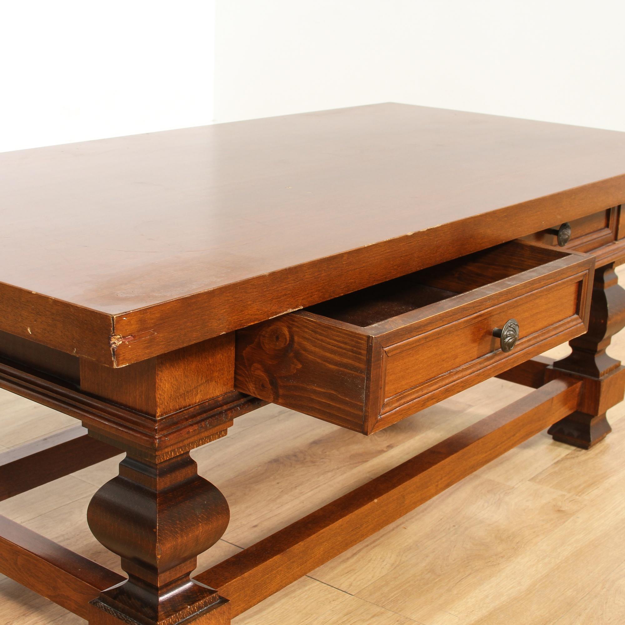 Mahogany 2 Drawer Coffee Table Loveseat Vintage Furniture San Diego Los Angeles