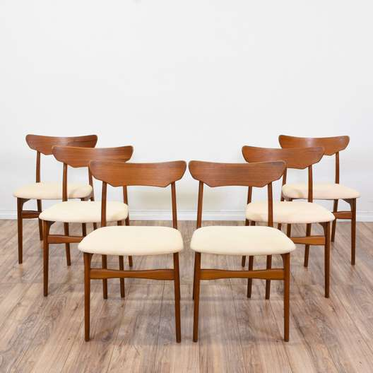 "Set of 6 ""Schionning & Elgaard"" Teak Dining Chairs"